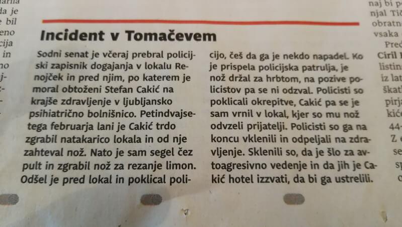 Incident v Tomačevem