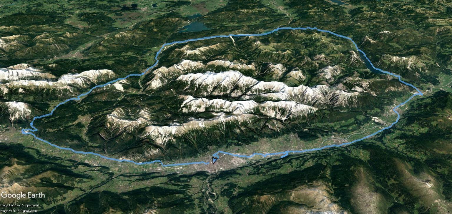 Zemljevid Karwendel