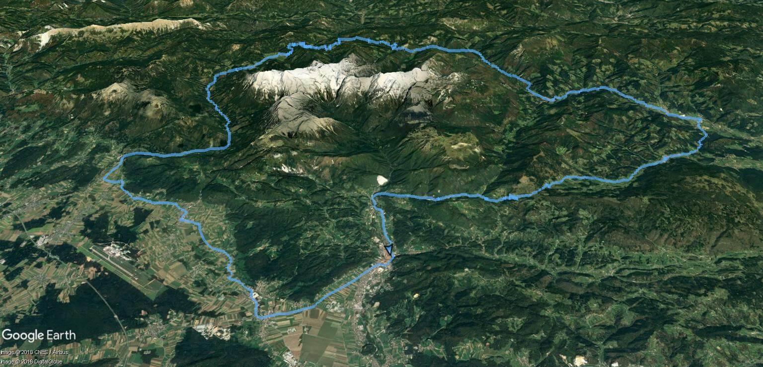 Maraton Alpe - zemljevid