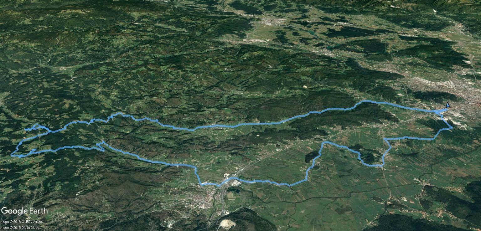 Rovte - zemljevid