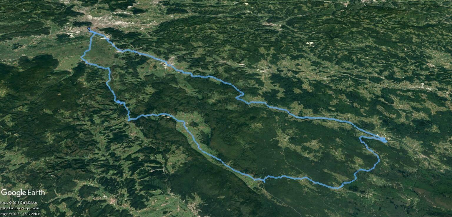 Izlet padajočega listja - zemljevid