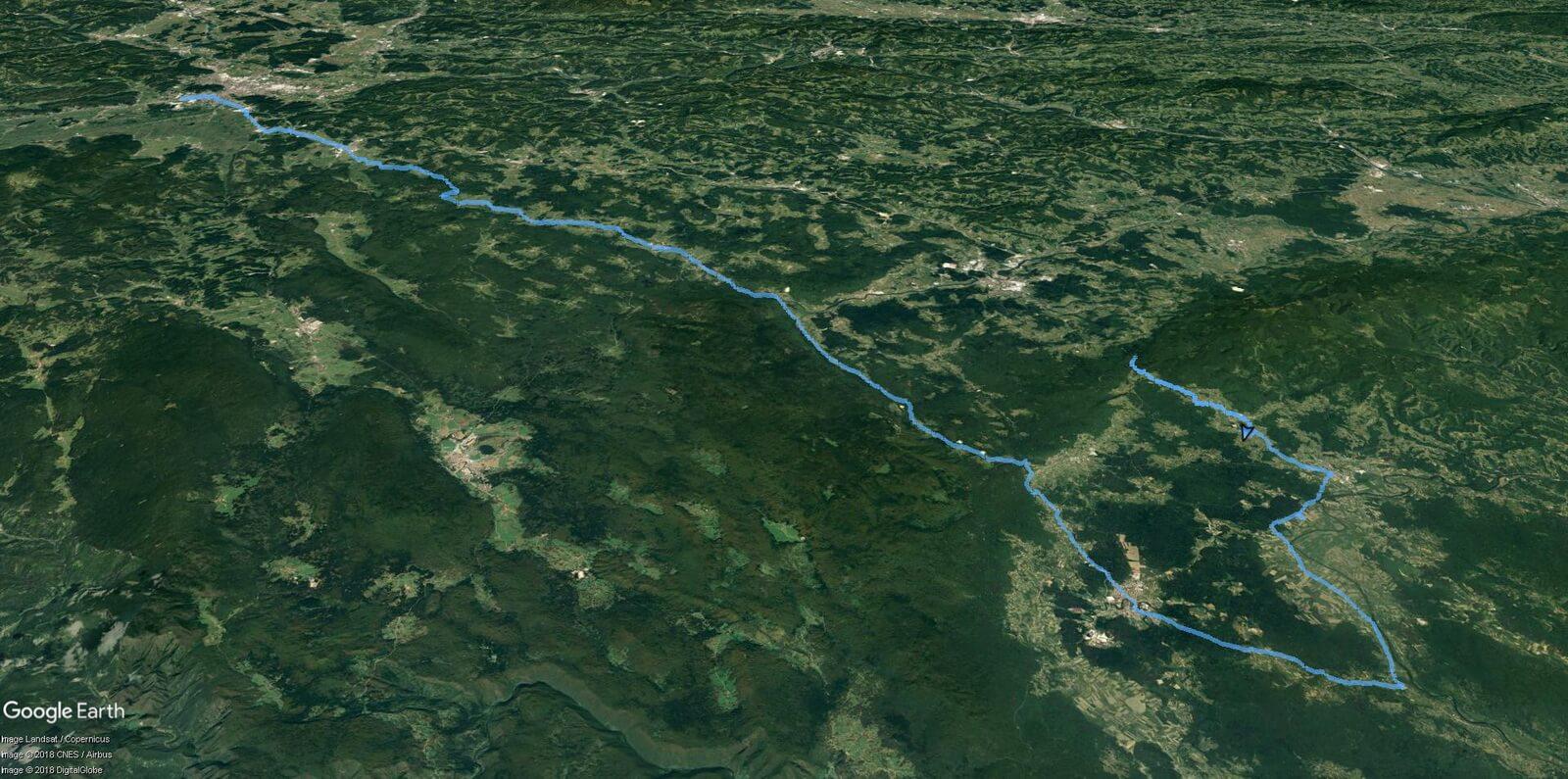 Na janjca - zemljevid