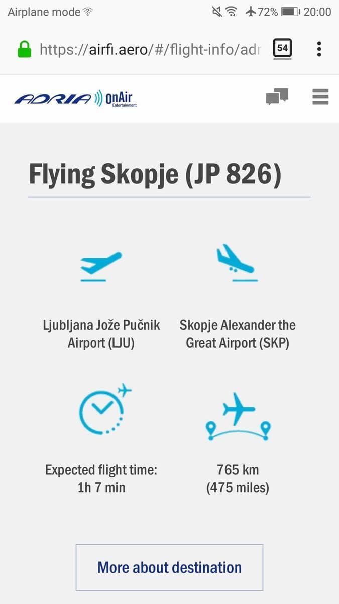 Adria OnAir Flight Info