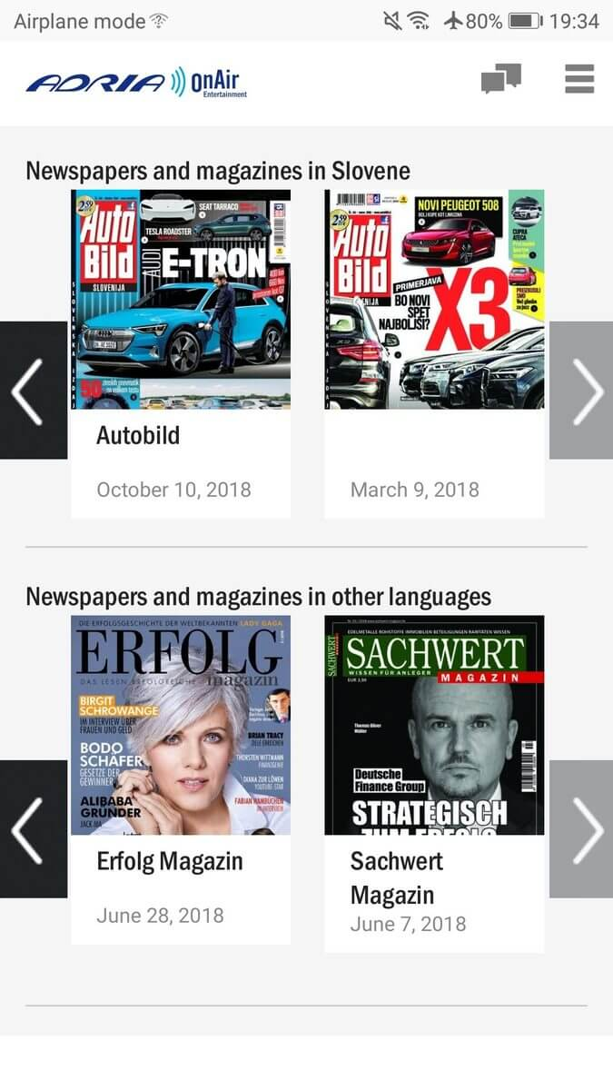 Adria OnAir - magazines