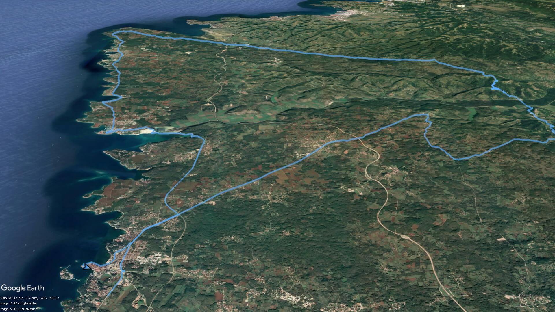 burja - zemljevid