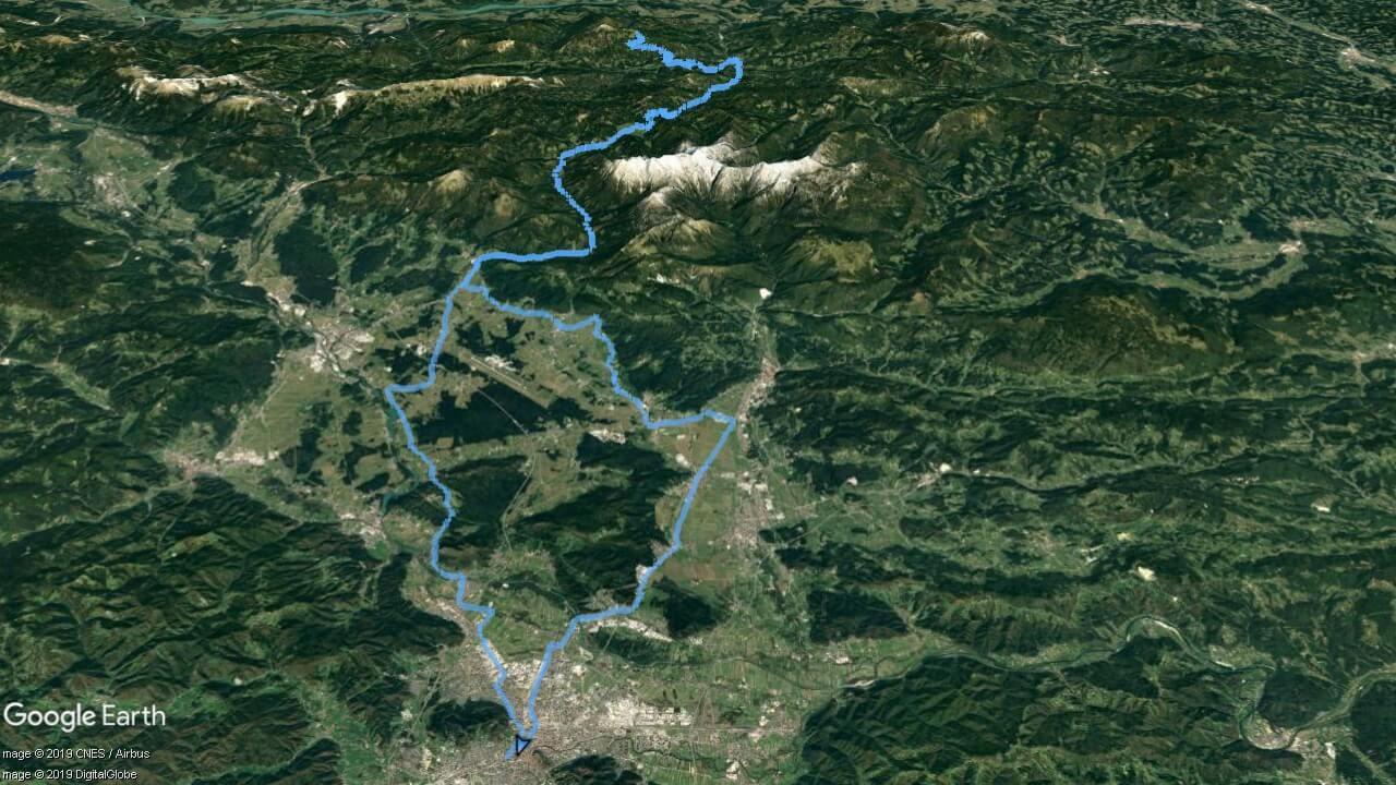 Pod Obirjem - zemljevid