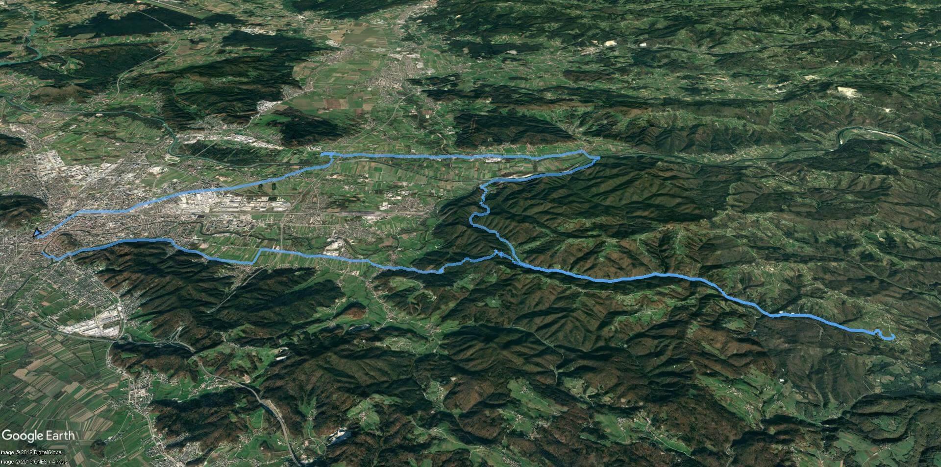 Pečar-Trebeljevo - zemljevid